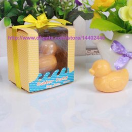 Wholesale Ducky Soap - 1000pcs Adorable Rubber Ducky Baby Shower Soap Scented Party Duck Favor For wedding favor gifts Free DHL Shipping.