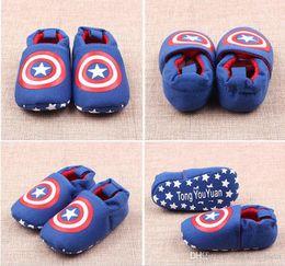 Wholesale Crochet Baby Girl Summer Shoes - Baby Shoes Infant Boys Girls Walkers Shoes Batman Captain America Spider man Super Man Englan Flag