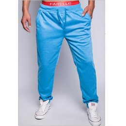 Wholesale Mens Pants Models - Wholesale-Foreign Trade Explosion Models Mens Fashion Hip-Pop Sweatpants Harem Pants Solid Color Design Casual Pants