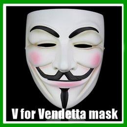 Wholesale Men Masks For Sale - NEW V Vendetta Mask Wholesale-SALE Guy Fawkes Masquerade Masks Halloween Mask Party Masks V Mask Vmask Free Shipping