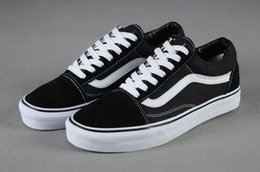Wholesale Canvas Casual Sneakers - Brand Sneakers For Women Mens Low Cut Skateboard Casual Sneakers Old Skool Canvas Shoes Classic 36-44