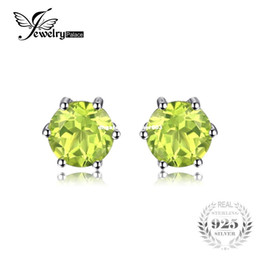 Wholesale Vintage Peridot Jewelry - JewelryPalace Natural Peridot Earrings Stud Genuine 925 Sterling Silver Jewelry Fabulous Vintage Gemstone Jewelry 2016 Brand New