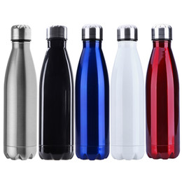 Wholesale 12 Lid Stainless - 500ml Vacuum Cup Sports Water Bottle Stainless Steel Heat Insulation Drink Bottle Thermos Vacuum Flask For Hot 12 H Cold 24 H