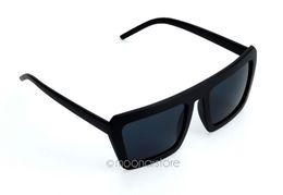 Gafas de sol al por mayor-Vintage gafas de sol masculinas negras gran marco espejo gafas oscuras gafas de sol de bambú gafas de sol M * HM302 # S9 desde fabricantes