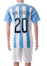 Wholesale Cheap Argentina Football Jerseys - Customized Argentina home #20 kun Aguero soccer jerseys,Copa America 2015 discount Cheap Football Shirts With Shorts,Free Shipping
