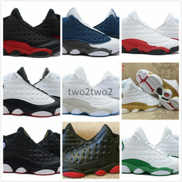 Wholesale Cotton Fabric History - High Quality Retro 13 Bred Chicago Flints Men Women Basketball Shoes 13s DMP Grey Toe History Of Flight All Star Sneakers With Box