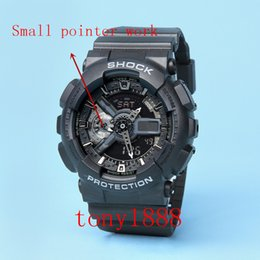 Wholesale gold camel - AAA Drop shipping Top quality GA110 brand men G sports digital LED watch with Autolight and shock and waterproof all pointers work with box