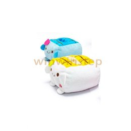 Wholesale Tofu Cell Phone Holder Wholesale - Wholesale-BS New Holder Cute Cartoon Tofu Plush Protect Block Seat Stand Mobile Cell Phone
