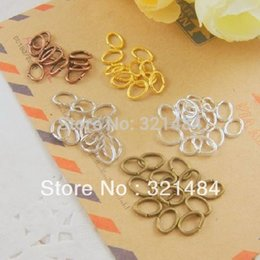 Wholesale Oval Jump Rings Wholesale - Wholesale 5000pcs 5x7mm oval open jump rings jewelry DIY findings accessories Color can pick up
