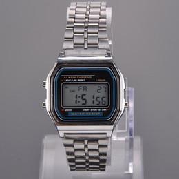 Wholesale Zipper Watch - 2015 Newest LED Digital Watch Watches Men Watch Gold,Silver Men Steel Clock Casual Zipper Brand Relogio Masculino YY*MHM102