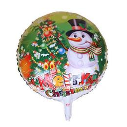 Wholesale Hot Foils - 10pcs lot Hot Sale!!christmas Foil Balloons Christmas snowman helium Balloons santa clause ball Children Party Decorations
