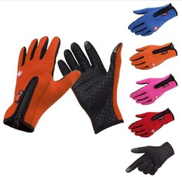 Wholesale Wholesale Thermal Gloves - Windstopper Outdoor Sports Snowboard Skiing Riding Bike Cycling Gloves Windproof Winter Gloves Thermal Warm Touch Screen Gloves