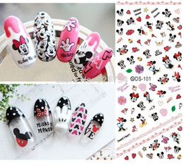 Wholesale Metal Nail Stickers - see details please miki mouse 4 pieces export nail art stamp water cute kid child transfer nail art sticker decal s