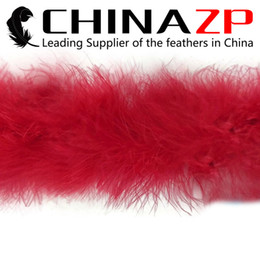 Wholesale Wholesale Red Boas - Leading Supplier CHINAZP Crafts Factory 2yards lot Fantastic Top Quality Red Marabou Feather Boas for Masquerade Balls
