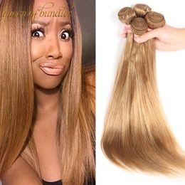 Capelli brasiliani vergini di alta qualità online-Più nuovo tessuto dei capelli vergini brasiliani dritto non trasformati malese peruviano dei capelli umani trama all'ingrosso migliore qualità dei capelli tesse 3 pz / lotto