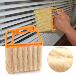 Wholesale Novelty Cleaning Brushes - Vertical Window Blinds Brush Cleaner Mini 7 Shape Hand Held Magic Brush Pinceis Novelty Households TOP2