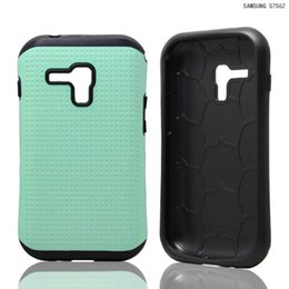 Wholesale Galaxy Duos S7562 Tpu Case - Hybrid Armor Combo shockproof case cover skin pouch for Samsung Galaxy S Duos S7562 heavy duty military case