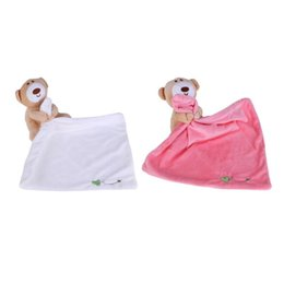 Wholesale Care Bear Wholesale - Wholesale- Cute Bear Baby Towel Soft Plush Newborn Appease Hand Towel Toys for Children Lovely Baby Care