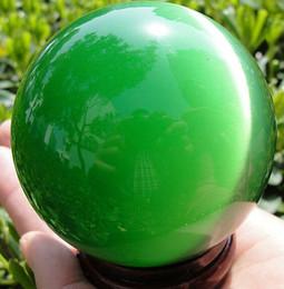 Wholesale Cats Eye Spheres - New green ball QUARTZ CAT EYE CRYSTAL BALL SPHERE 40MM + STAND