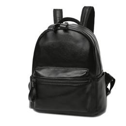 Wholesale School Girl Korea - Hot Korea Homemade PU leather Female backpack Fashion School Bag Girls Rucksack Small Retro Daypack
