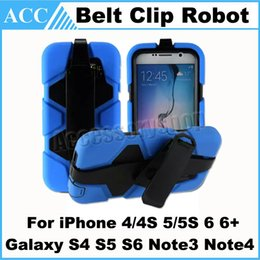 Wholesale Cover Stand Galaxy S4 - Hybrid Military Compact Heavy Duty Shockproof Stand Belt Clip Case Cover for iPhone 4 5S 6 Plus Galaxy S4 S5 S6 Note3 Note4 Kickstand 500pcs