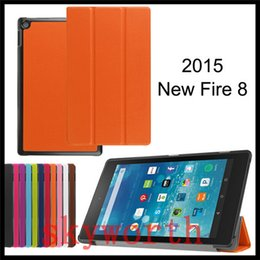 Wholesale Screens For Kindle Fire - For Amazon Kindle Fire HD7 HD8 HD10 2015 leather case stand Ultra Slim Smart Cover ebook kindle HD 7 inch Cases