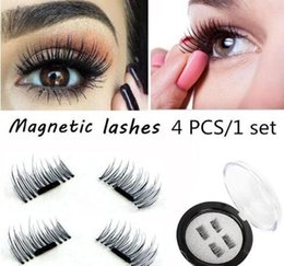 Wholesale Feather Eyelash Extensions - Magnetic Eye Lashes 3D Mink Reusable False Magnet Eyelashes Extension 3D Eyelash Extension Magnetic Eyelashes 4pcs set extensions magnetic