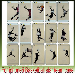 Wholesale Case Iphone Usa - USA Basketball Star Air PC phone cases Matte Back Cover Cases for Apple iphone6 plus 4.7 5.5 inch
