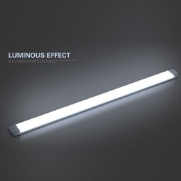 Wholesale Mounted Ceiling Lighting - Surface Mounted LED Batten Tube Dust-proof Ultra Thin elongated Ceiling light 2ft 3ft 4ft 5ft 27W 36W 54W 65W AC85-265V Warm Cool White