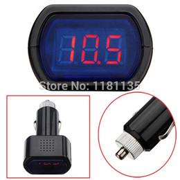 Wholesale Truck Battery Voltage Meter - Brand New DC Digital LED Car Truck Battery Voltage Electric Meter Monitor Indicator Gauge Voltmeter 12V 24V Free Shipping