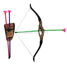 Wholesale Kids Toy Bow Arrow - Outdoor Shooting Sports Toy Bow and arrow Toy Set Plastic toys for Children Kids outdoor fun toys