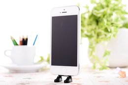 Wholesale Adi Shoes - Wholesale-Adi Black for iphone5 for iphone5S 5C 6 kawaii design brand stand shoes dust plug cell phone charging jewelry accessories