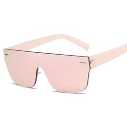 Wholesale Sexy Lens - The fashion One Piece Lens Sunglasses Oversize Shield Sexy Cool Sunglasses Eyewear Gradient Aviator Unisex models