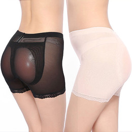Wholesale Padded Hips - Wholesale-Hot Sexy Women Shapers Nude Silicone Buttock Butt Hip Up Pads Enhancer Pads Padded Panties