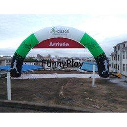 Wholesale Automatic Gate - Wholesale- promotional inflatable arch,colorful sport start finish inflatable gate with removable banner for racing,inflatable arch way