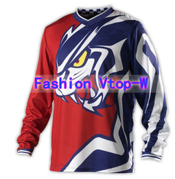 Wholesale Dh Cycling Jerseys - Wholesale-Free shipping! High Quality Brand Motocross MTB DH Mountain Bike GP Air jersey  Off Road Racing Cycling Anti-sweat Shirt #JE11