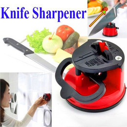 Wholesale Kitchen Pads - New black&red Kitchen Knife Sharpeners Sharpening Stone Household Sharpener Knife sharpener suction pad Kitchen Knives Tools