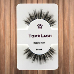 Wholesale False Eyelashes Natural Handmade - 10 Pair Women Black Luxurious Real Mink Natural Thick Eye Lashes Soft Long Handmade False Eyelashes Makeup Extension Beauty Tools