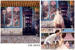 Wholesale Photo Print Stores - 5X7ft Village Vintage Store For Wedding Camera Photos Backdrop Computer Printed Photography Studio Background Vinyl Backdrops Backgrounds