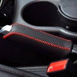 Wholesale Ford Leather - For Ford Focus 1.6L 2012 handbrake cover car styling covers Genuine leather Handbrake cover