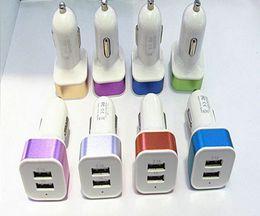 оптовая торговля Скидка Автомобильное зарядное устройство двойной USB разъем сигареты штекер универсальный автомобильное зарядное устройство 3.1 A выход DHL Бесплатная доставка
