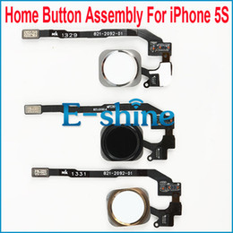 Wholesale Iphone 5s Cable Oem - Home Button Assembly For Apple iPhone 5S With Key Flex Cable Ribbon Replacement Parts OEM Brand New