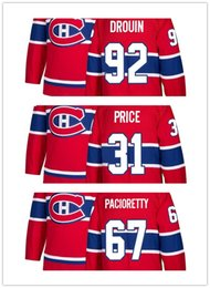 d87969f32 2018 New season Stitched Montreal Canadiens 6 Shea Weber 31 Carey Price 92  Jonathan Drouin Blank Ice Hockey Jerseys Red