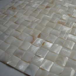 Wholesale Mosaic Tile Shapes - 20x20mm natural color Mother Of Pearl shell mosaic tile , arch shape background, border, furniture tile #MS127
