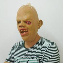 Wholesale Burns Wedding - Horror Halloween Party Costume Cosplay Zombie Mask Long Hair Burning Eye Bloodshot Latex Mask Scary Ghost Movie Mask DHL free shipping