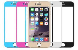 Wholesale Iphone5 Protector Mirrored - Front +back film for iphone5 color Glass protection film color plating Tempered glass screen protector for iphone 5S 5 6 6plus 4 4s