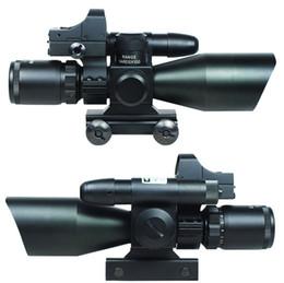 Wholesale Dot Reflex Scope Sight Laser - 2.5-10X40 Tactical Rifle Scope w  Green Laser & Mini Reflex 3 MOA Red Dot Sight