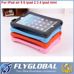 Wholesale Ipad Covers Stands Best - Hot EVA Children Kids Soft Shock Proof Foam Case For Apple iPad mini 2 3 4 5 Air Silicone Tablet Covers With Stand best quality