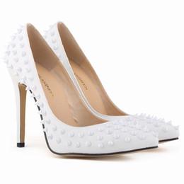 chaussures talons taille 11 Promotion Belle sexy Avec haut 11 cm Rivet lisse inférieur Stiletto talons Club pour chaussures femme Chaussures de mariée Chaussures à balle unique taille 35-42