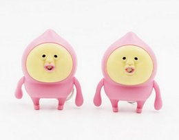 Wholesale Wholesale Price Finder - Factory Price cute Fart peach jun LED sound light keychains flashlight sound cartoon toys Japanese animation key chains child gift free DHL